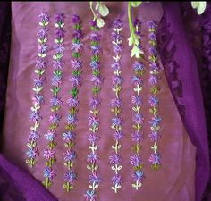 Embroidery Neck Designs, Hand Embroidery Flowers, Embroidery Stitches, Churidar, Kurti, Baby Girl Dresses, Beaded Necklace, Girly, Collections