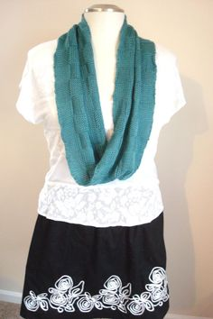 Teal Infinity Scarf Teal Knit Scarf Knit by ArtfullyWrapped, $30.00