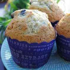 """Blueberry Cream Muffins 
