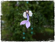 Mermaid Fairy Mobile Guardian AngelHanging by CloudBerryCrafts, $42.00