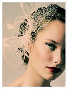 Vintage Rockabilly Wedding / Hair & Headgear