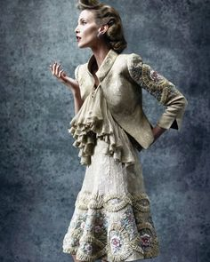 """2,970 Likes, 35 Comments - Valentino Garavani (@realmrvalentino) on Instagram: """"Nadja Auermann wears Spring/Summer Haute Couture 2005 in a Paris campaign shot by @mariotestino…"""""""