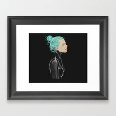 #colored #pencil #female #drawinggirl #ink #illustration #drawing #black #bluehair #face Choose from a variety of frame styles, colors and sizes to complement your favorite Society6 gallery, or fine art print - made ready to hang. Fine-crafted from solid woods, premium shatterproof acrylic protects the face of the art print, while an acid free dust cover on the back provides a custom finish. All framed art prints include wall hanging hardware.