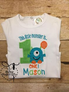 Baby Boy Monster Birthday 1st Birthday Monster is one