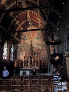 Church of the Holy Blood in Bruges, Belgium. Here we viewed what is believed to be the blood of Christ.
