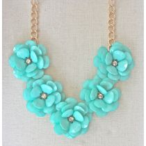 Mint Flower Bib Necklace 2013 #SwellSummer
