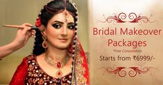 Bridal Makeover packages starts from Rs 6999/- only along with free consultation.The packages also includes treatments for Acne prone skin, Tanned skin, Normal skin, Meso Glow treatments and Laser hair reduction ( Bikini , Under arms, Hands, Leg's).