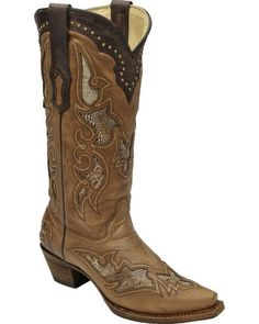 34833b9c6 Corral Women s Ostrich Leg Inlay Cowgirl Boots - Snip Toe
