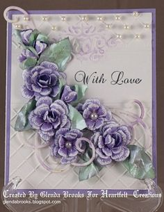 Heartfelt Creations   Purple Botanical Floral 2