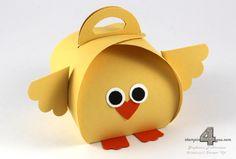 Stampin' Up! Curvy Keepsake Box chicken Küken Zierschachtel für Andenken