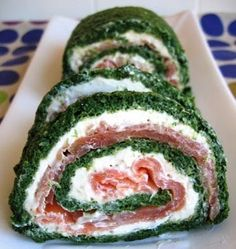 Three Fat Ladies: Rolo de espinafres com queijo de ervas e salmão fumado