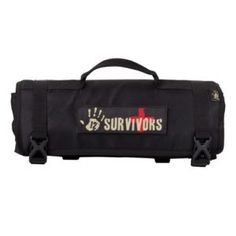 12 Survivors First Aid Rollup Kit, Black