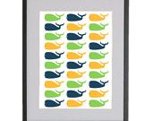 8x10 Boys whales Nursery Art Print in Matte Finish by Jayna Denbow. $14.99, via Etsy.