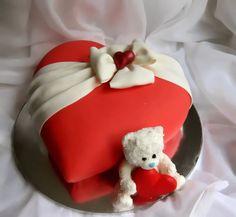 heart cake - bear