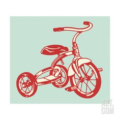 Tricycle Art Print by Pop Ink - CSA Images at Art.com