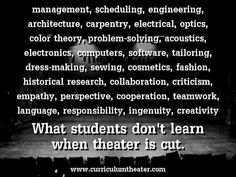 What students don't learn when theater is cut