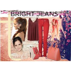 """""""How Do You Style Bright Jeans?"""" by hartantinora on Polyvore"""
