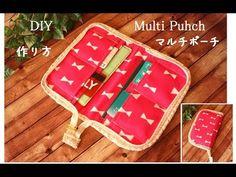マルチポーチ 作り方 DIY Many pockets in zipper pouch Sewing a zipped folder
