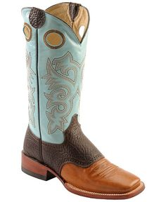 Ferrini Bison Vamp Cowgirl Boots - Square Toe