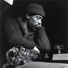"""Eric Dolphy, Englewood Cliffs, New Jersey, 1964. """"Out to Lunch"""" session.  FRANCIS WOLFF"""