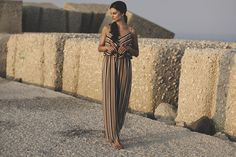 striped jumpsuit  summer fashion