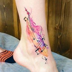 Music Tattoo Designs, Music Tattoos, New Tattoos, Body Art Tattoos, Small Tattoos, Tattoo Ink, Music Tattoo Foot, Faith Tattoos, Word Tattoos