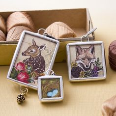 The nature lover in me adores these woodland charms! #jewelkade