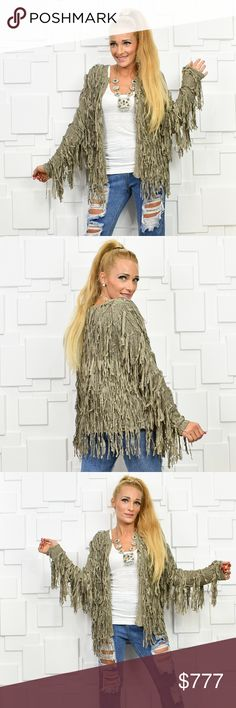 FABULOUS FRINGED CARDIGAN BRAND NEW BOUTIQUE ITEM PRICE IS FIRM  This cardigan is a MUST HAVE for your fall/winter wardrobe!! Look at all that playful fringe!!! This color will pair perfectly with any outfit. Style is causal or dressy either way this comfy  cardigan is a true statement makers!!!  Material 100% acrylic True to size Open front style  celebrity warm sweater sweaters cardigan vacation holiday gift present party MODA ME COUTURE Sweaters Cardigans