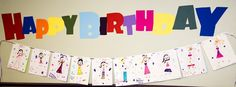 Fairies from Anya's (my daughter) imagination that inspired the birthday theme  - banner made entirely by her :)