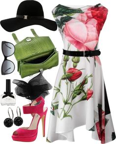 """""""springtime sadness"""" by vfr3y on Polyvore.  I just want the dress"""