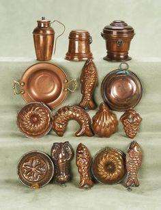 Miniature copper molds