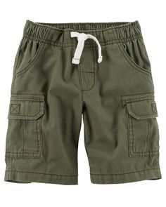 Kid Boy Pull-On Cargo Shorts from Carters.com. Shop clothing & accessories from a trusted name in kids, toddlers, and baby clothes.