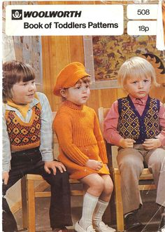 Woolworth - Toddlers Patterns - 1973. None of these kids look too happy in those clothes.