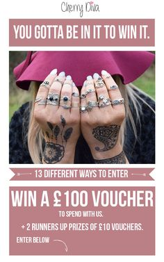 Re-pin for a chance to win £100 to spend with Cherry Diva!