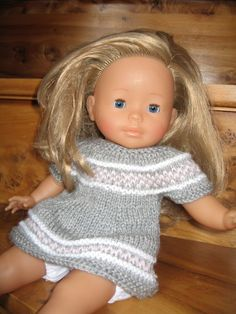 free knitting pattern for 36 cm baby doll Knitting as an example Knitting Patterns Free, Free Knitting, Baby Bloomers Pattern, Baby Born Clothes, Sewing Online, Journey Girls, Knitted Dolls, Free Sewing, Diy Clothes