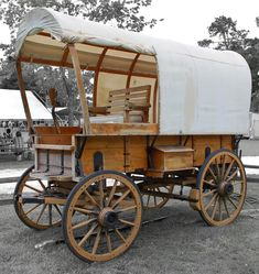 Old Covered Wagon by Philip Molyneux