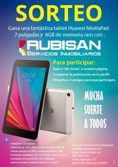 Gana una fantástica tablet Huawei Media Pad