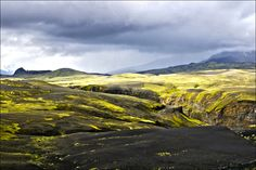 Laugavegur wandelroute, IJsland.