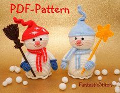 Crochet Pattern Snowman Christmas Amigurumi por FantasticStitch