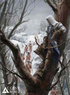 Assassin's creed 3 connor art work.