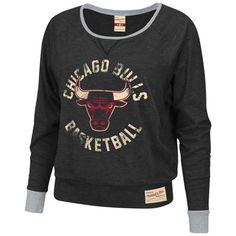 37c5830dd6b2 Chicago Bulls Women s Black Mitchell  amp  Ness Spectator Long Sleeve Shirt   59.99 Nba Bulls