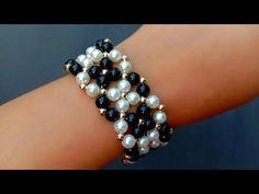How To Make Vintage Bracelet//Cuff Bracelet Making// Useful & Easy Perline Wie man Vintage Armband m Beaded Jewelry Designs, Bead Jewellery, Custom Jewelry, Handmade Jewelry, Pearl Jewelry, Indian Jewelry, Diy Jewelry, Beaded Bracelet Patterns, Bracelet Tutorial