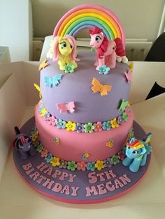 My little pony cake 5th Birthday Cake, My Little Pony Birthday Party, Foto Pastel, Ocean Cakes, My Little Pony Cake, Little Poney, Character Cakes, Novelty Cakes, Girl Cakes