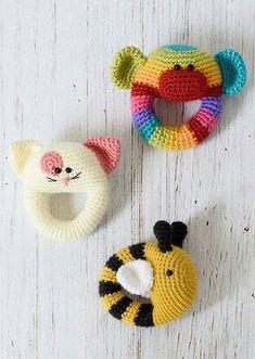 Baby rattles  #happycrochet