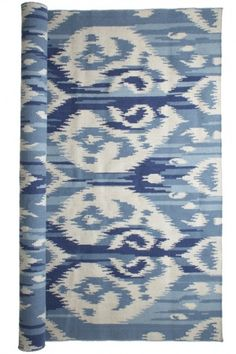 Dress up your floor with a Paisley Ikat Dhurrie from Calypso