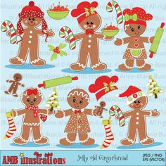 Check out Gingerbread clipart-commercial use by AMBillustrations on Creative Market