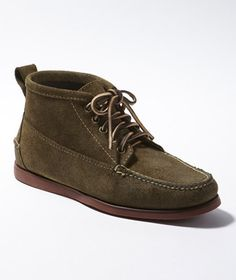 These are nice.  In a unique olive suede.  LL Bean's Jackman Ranger Moc, Suede.
