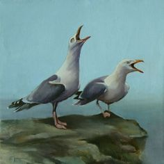 Duet, painting by artist Donna Pomponio
