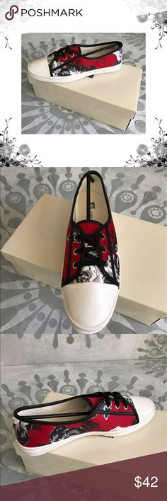"Anne Klein 'Zagger' Red Floral Print Sneakers Manufacturer Color is Red/Multi. New with box. Heel Height is 1"". Platform Height is 1"". Front Lace Closure. Textile Upper/Man Made Outsole. Floral Print. Fashion sneaker. Bundle for discounts! Thank you for shopping my closet! Anne Klein Shoes Sneakers"