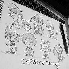 #character #characeterdesign #kids #cartoon #scketch  Unos breves bocetos de los personajes en los cuales trabajo, algo sencillo para la iglesia a la cual asisto.